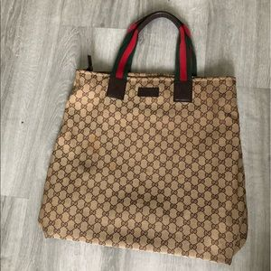 GUCCI LARGE CANVAS TOTE